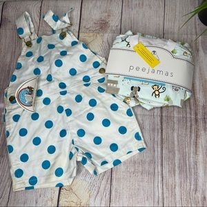 NEW toddler bundle of two jammie & overall set